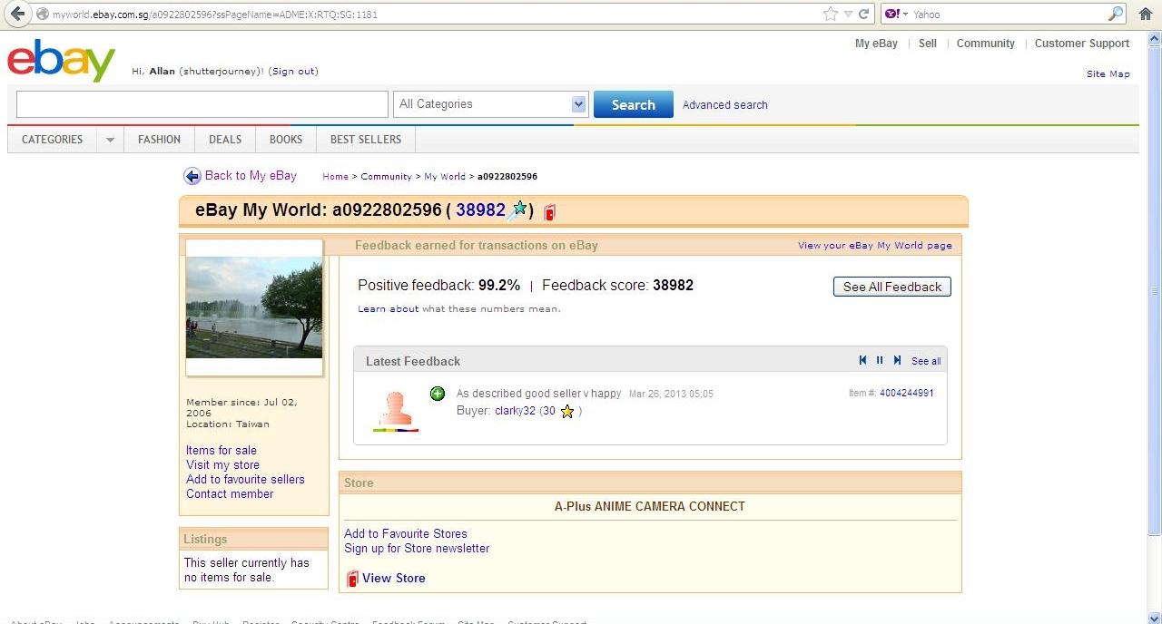 Ebay Beware Online Cheat A0922802596 Shutter Journey Singapore