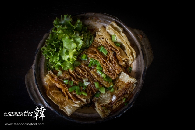 Chinese Cuisine - Deep-fried Beanskin with Sauce-9431