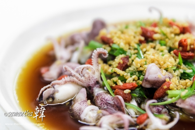Chinese Cuisine - Steamed Baby Squid-6477