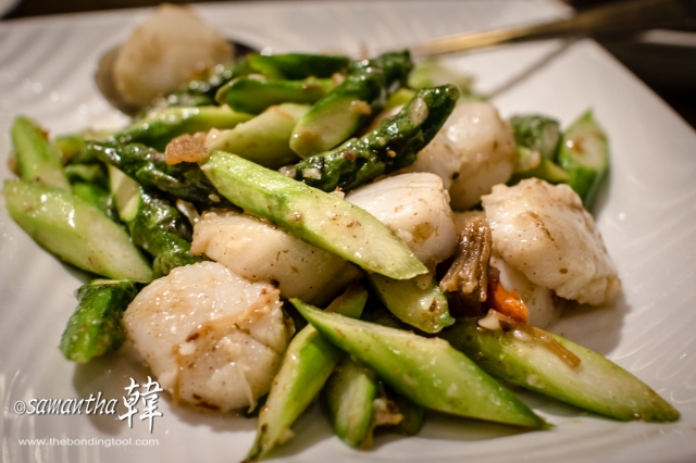 Chinese Cuisine - Wok-fried Asparagus with Scallop-6936