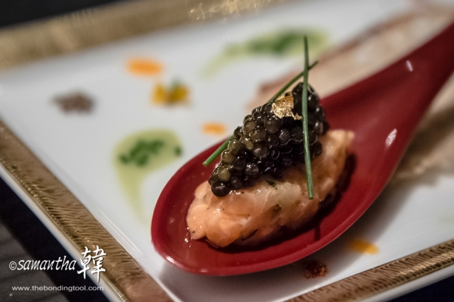 French Cuisine - Salmon with Imperial Caviar-0221
