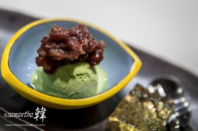 Japanese Cuisine - Matcha Ice Cream with Azuki Beans-9930