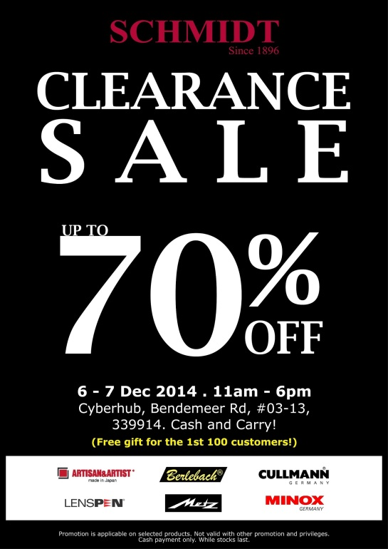 CLEARANCE SALE (with FOC)